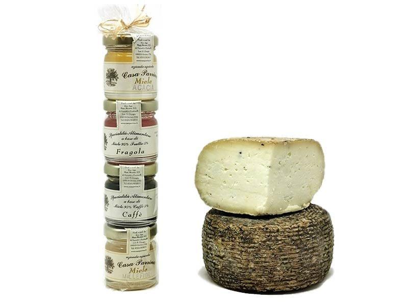 Vendita pacchi regalo prodotti umbri formaggio e miele